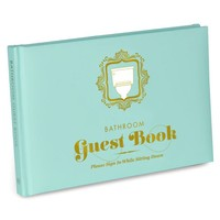 Knock Knock® Bathroom Guest Book | KnockKnockStuff.com