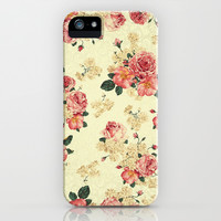 Vintage Roses - for iphone iPhone & iPod Case by Simone Morana Cyla