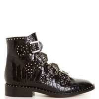 Crocodile-effect leather ankle boots | Givenchy | MATCHESFASHION.COM UK