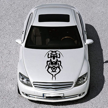 EVIL BEETLE ANIMAL DESIGN HOOD CAR VINYL STICKER DECALS ART MURALS SV1163