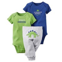 Dinosaur design 3piece set bebe Girls Boys clothing sets Baby Girls Pant Set