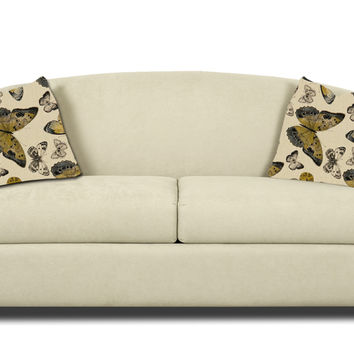 Savvy Chicago Sleeper Sofa in Microsuede Oyster (Full)