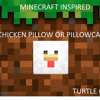 Minecraft Chicken Herbal Therapy Pillow- Set of 2- Large