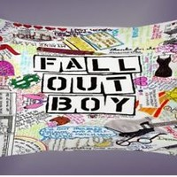 Top Fall Out Boy Quote Collage Best Pillow Case 16 x 24 20 x 26 2 Side Cover