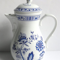 Blue Onion Teapot Coffee Pot by SMCS Tirschenreuth