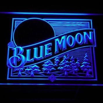 A167-b Blue Moon Beer Bar Pub Logo Neon Light Sign