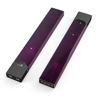 Skin Decal Kit for the Pax JUUL - Dark Pink Geometric V16