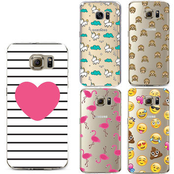 Clear TPU Silicone Soft Case for Coque iPhone 7 6 6S Plus 5S 5C 5 4S SE Cover For Samsung Galaxy S5 S6 S7 Edge A3 A5 j3 J5 2016