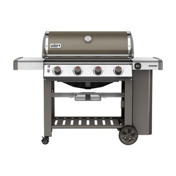 Weber Genesis II E-410 4-Burner Propane Gas Grill in Smoke with Built-In Thermometer-62050001 - The Home Depot