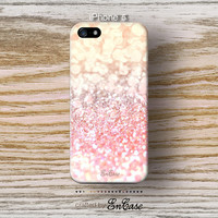 Mobile accesories, 3D-sublimated, iPhone 4, iPhone 4S, iPhone 5, Pink nude sparkle glitter.