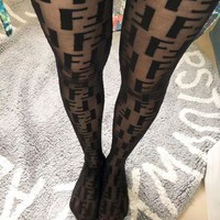 Fendi Black Tights