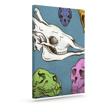 "Sophy Tuttle ""Skulls"" Outdoor Canvas Wall Art"