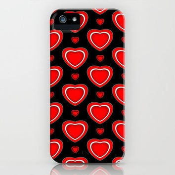 Valentine in Black iPhone Case iphone 5, 4S, 4, 3GS, 3G by Alice Gosling | Society6