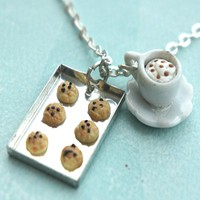 Cookies and Cappuccino Necklace