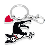 Boston Terrier Keyring