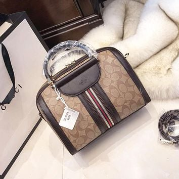 GUCCI Women Fashion New Stripe More Pattern High Quality Shoulder Bag Handbag