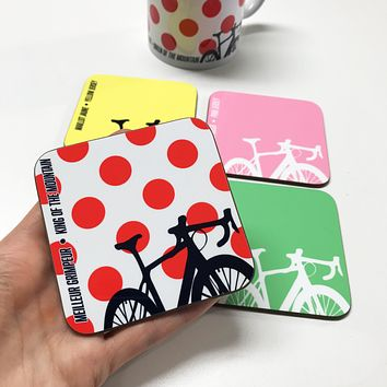 Grand Tour Cycling Coasters