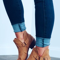 Run It Back Booties: Camel