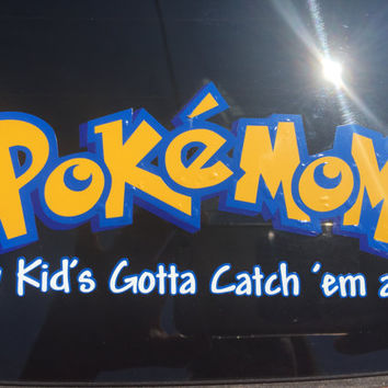 PokemoM Go decal for your car! Let people know your kid is into the Pokemon Go craze with this awesome themed decal!