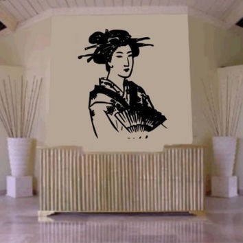 Beautiful Geisha Girl Decal Sticker Japan Japanese Asian Wall Mural