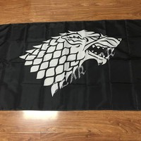 Game Of Thrones Stark Banner Flag 3' x 5' 100D polyester quality free shipping