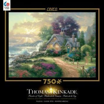 Thomas Kinkade Special Edition Metallic Foil 750 Piece Puzzle-A New Day Dawning