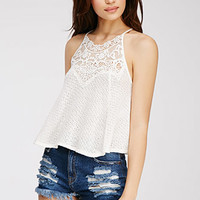 Lace-Embroidered Cami