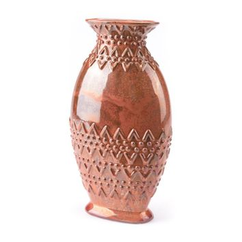 Toltec Large Vase Red