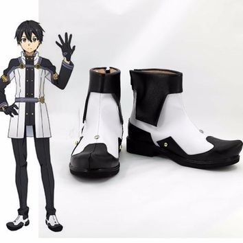 Sword art online new kirito asuna extral hero cosplay costume lolita unisex punk  party shoes halloween boots