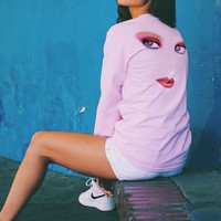 May 1988 Playmate Gaze Long Sleeve Tee - Pink (Unisex)