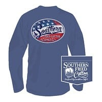 Liberty Label Long Sleeve Tee in Summer Shadow by Southern Fried Cotton - FINAL SALE