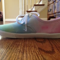 TIeDye LaceUp Shoes CHOOSE COLORS by vivodesigns on Etsy