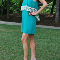 Southern Bell Crochet Trim Strap Dress