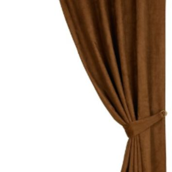 Cowgirl Kim Las Cruses Copper Faux Suede Curtain