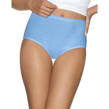 Hanes Womens  Ultimate Cotton Comfort Briefs Assorted Colors & Patterns 4-Pack