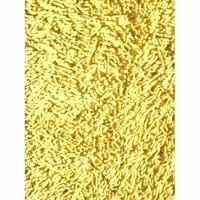 L.A. Rug SH-09-3958 Yellow Shag Rectangular: 3 Ft. 3 In. x 4 Ft. 10 In. Rug