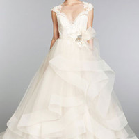 Bridal Gowns, Wedding Dresses by Lazaro - Fall 2013 Collection - JLM Couture