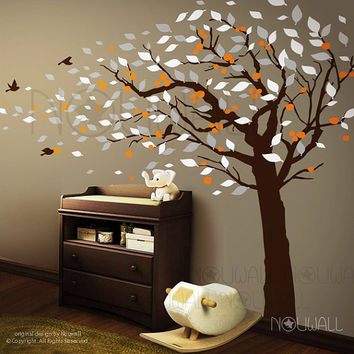 Tree Wall Decals Wall Sticker - tree with birds wall decal