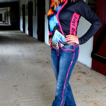 """Graffiti """"Air-Conditioned"""" Western Rodeo Shirt"""