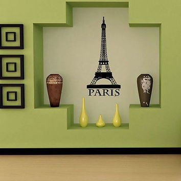 PARIS EIFFEL TOWER FRANCE WALL VINYL STICKER DECAL MURAL ART T242