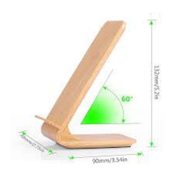 Wood Grain Fast Wireless Charger Quick Wireless Charging Stand for iPhone X 8 8 Plus Samsung S8
