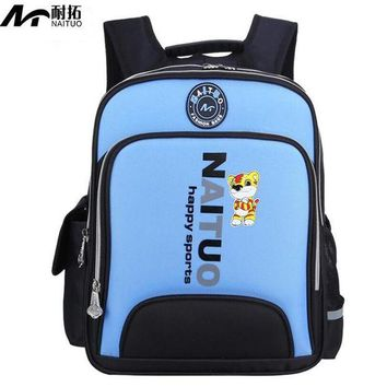 DCCKU62 Quality Orthopedic Children Backpacks Kids School Bags For Boys Girls Primary School Backpack Kids Reflective Waterproof Bag
