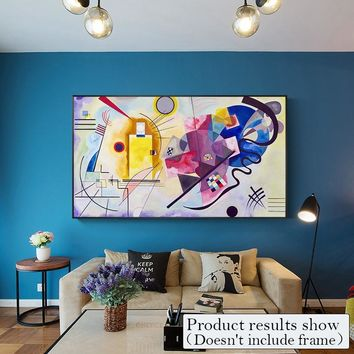 Large Abstract Canvas Painting Modern Wall Art Pictures for Living Room Home Decor Fashion Color Decorative Posters And Prints
