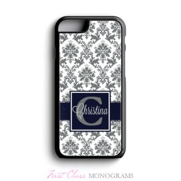 Gray & Navy Name Personalized Phone Case
