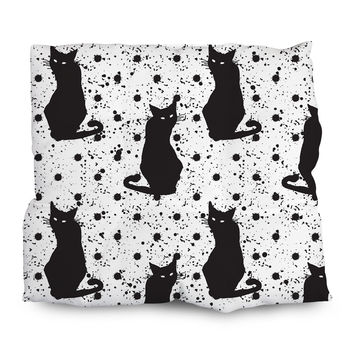 Hand Drawn Cat Pattern Outdoor Cushions