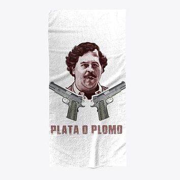 Plata O Plomo Escobar Beach Towel