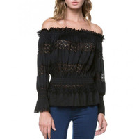 Victoria Off-The Shoulder Lace Top