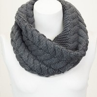 Grey Knit Snood
