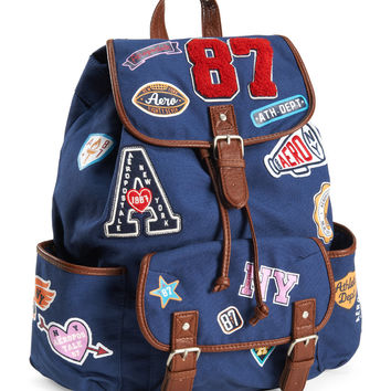 ab9a80758f Aeropostale Womens Patches Backpack - Blue, One