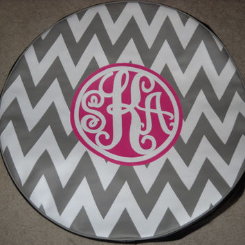 Chevron Monogram Spare Tire Cover SKA